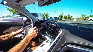 FIRST RIDE ALONG IN A NEW MID-ENGINE C8 CORVETTE CONVERTIBLE! *THE CROWDS WERE INSANE!*