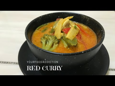 Easy Red Chicken Curry recipe with vegetables | Cooking Video
