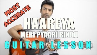 Haareya | Meri Pyaari Bindu | Arijit Singh | HINDI Guitar Lesson for Beginners