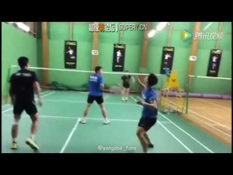 lee yong dae training 1 vs 3 李龙大이용대