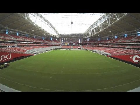 TIME LAPSE: Turf moves out at University of Phoenix stadium field