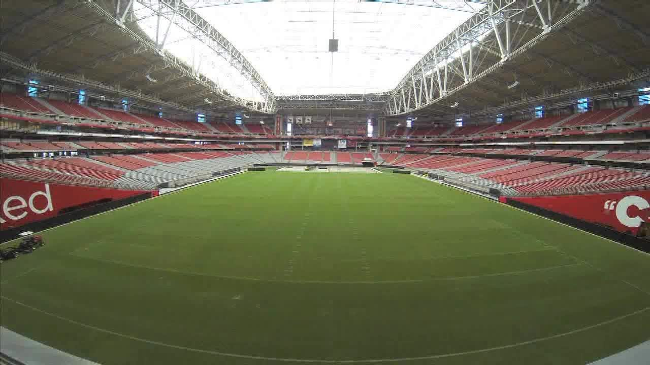 Time Lapse Turf Moves Out At University Of Phoenix