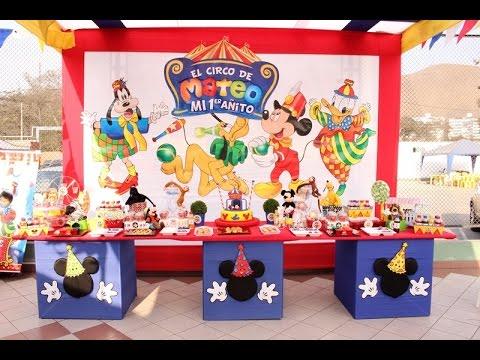 Decoracion del circo de mickey mouse todo para fiestas - Todo para fiestas de cumpleanos ...
