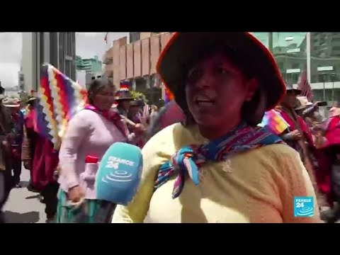 'We will never give up': Supporters of Bolivia's Morales demonstrate in La Paz