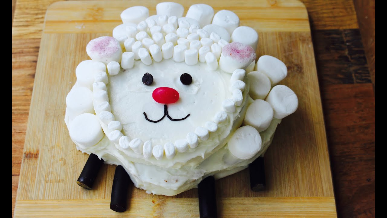 Easy Birthday Cake Idea How To Make A Sheep Cake Youtube