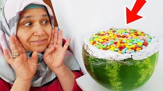 Watermelon in joke!, Happiness for Ayşe Yıldız, Joke With Surprise Colorful Candies In Watermelon