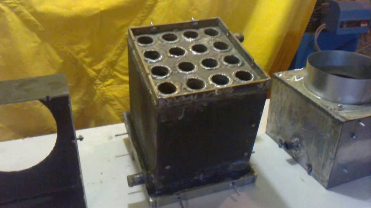Intercambiador de calor para estufas o chimeneas de le a - Como adaptar una estufa de lena a pellets ...
