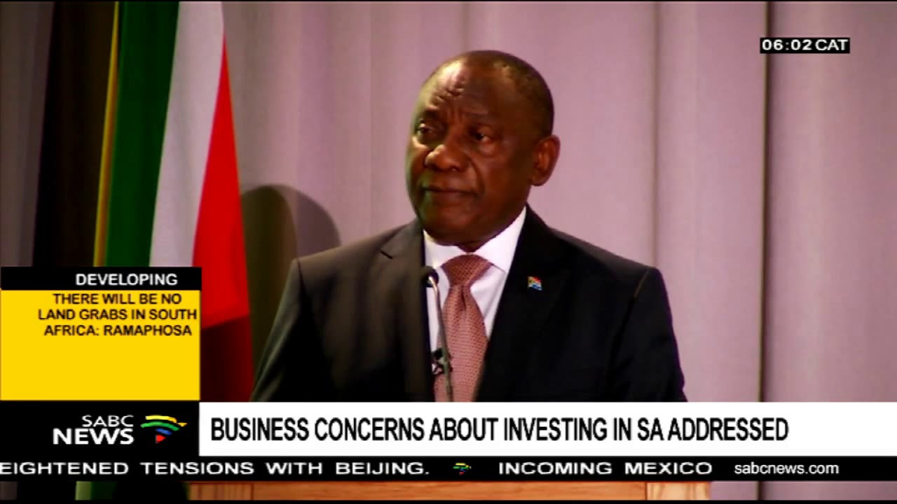 Ramaphosa says investors support land expropriation