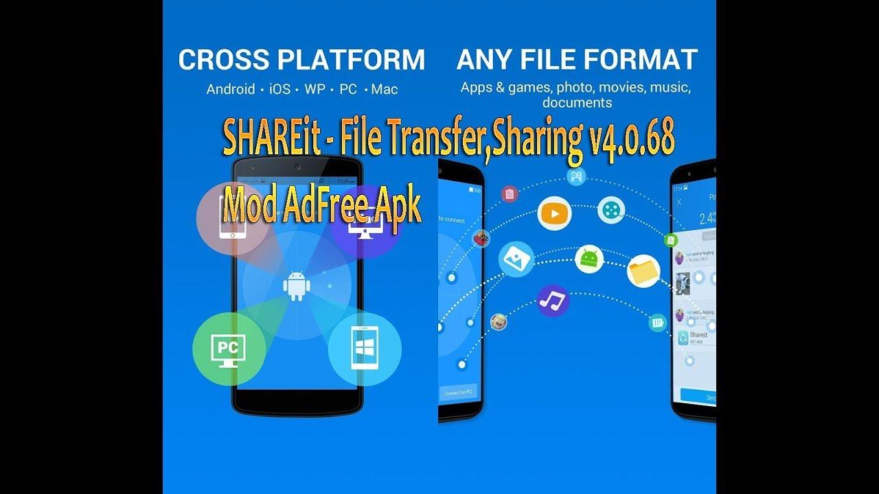 SHAREit - File Transfer,Sharing v4 0 68 Mod AdFree Apk