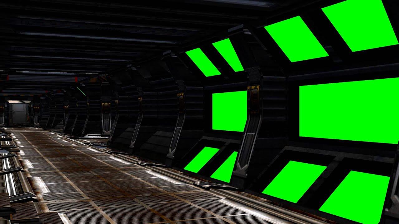 Spaceship Interior With Sound Green Screen Set B Youtube