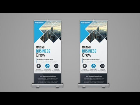 Professional Roll Up Banner Design - Photoshop Tutorial