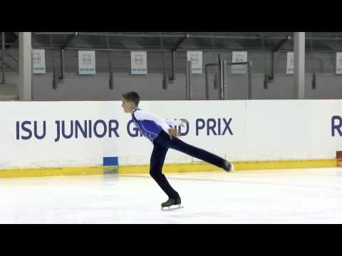 ISU 2015 Jr. Grand Prix Riga Men Short Program Petr GUMENNIK RUS