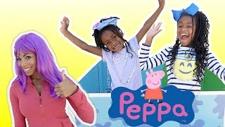 Kids Pretend Play with Peppa Pig Surprise Box! Magic Toy Store Prank