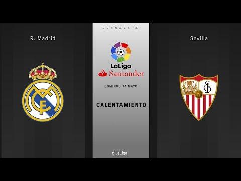 Calentamiento R. Madrid vs Sevilla