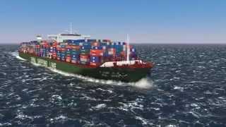 cargo ship wake test