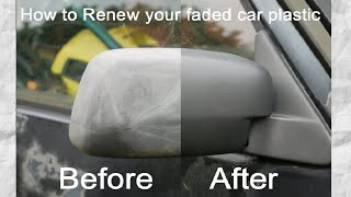 Great Hack : How to Restore Faded Plastic Bumpers and Trims on a Car