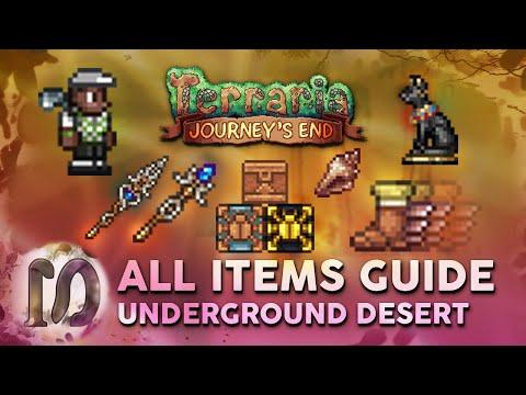 ALL UNDERGROUND DESERT ITEMS In Terraria 1.4 Journey's End. Full Guide, New Desert Chests Terraria.