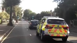 Middle Lane Driver Blocks Police