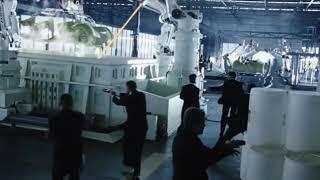 Автоматизированный авто завод будущего ... отрывок из фильма (Особое мнение/Minority Report)2002