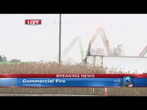 Commercial fire at Sims Metal Management