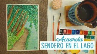Acuarela - ¡Sendero en el Lago! / Watercolor - Path on the Lake! - Lucy Ideas