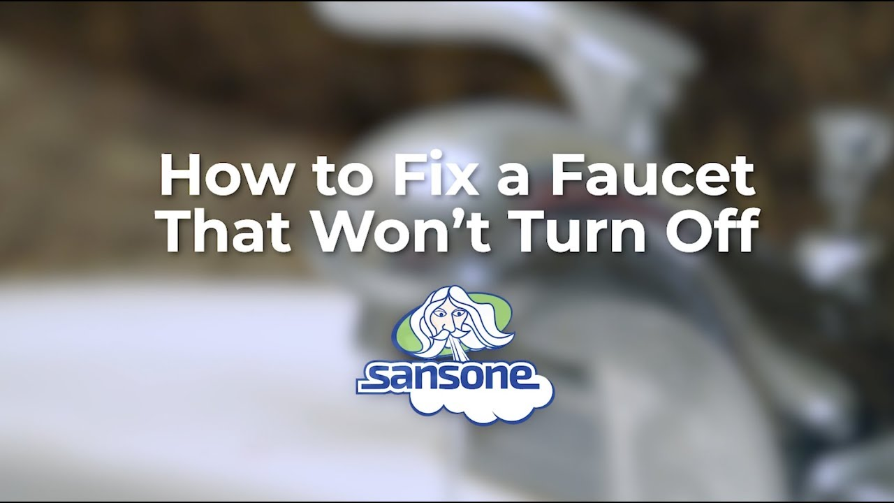 What to Do When a Faucet Won't Turn Off   YouTube