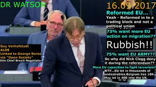 "FARAGE DEMOLISHES VERHOFSTADT OVER ""POPULIST WAVE"" & TRANSNATIONAL PARTIES 16.09.2017"