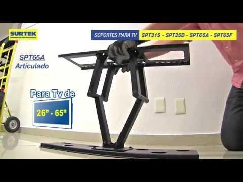 Instalación de televisión con soportes Surtek URREA México
