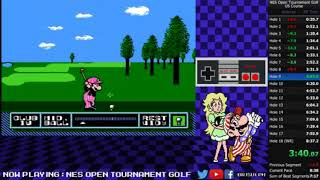 NES Open Tournament Golf - US Course Speedrun WR (8:32:16))