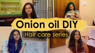 DIY Onion Oil at Home | Stop Hair Fall Naturally | Anithasampath Vlogs