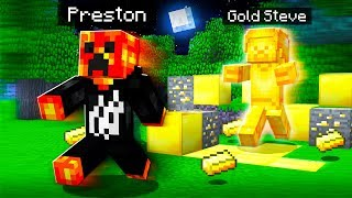 I FOUND GOLD STEVE in MINECRAFT! *SCARY SECRET*