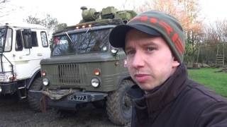 RUSSIAN MudRunner TRUCK in UK V8 Gaz 66 cold start ГАЗ 66 spintires