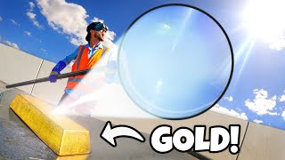 Can We Melt a $1,000,000 Gold Bar With a GIANT Magnifying Glass?