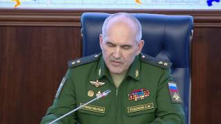 Обстановка вокруг Алеппо  Брифинг НГОУ ГШ ВС РФ генерал лейтенанта С Ф  Рудского (25 10 2016)