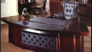 Sauder Edge Water Executive Desk In Estate Black