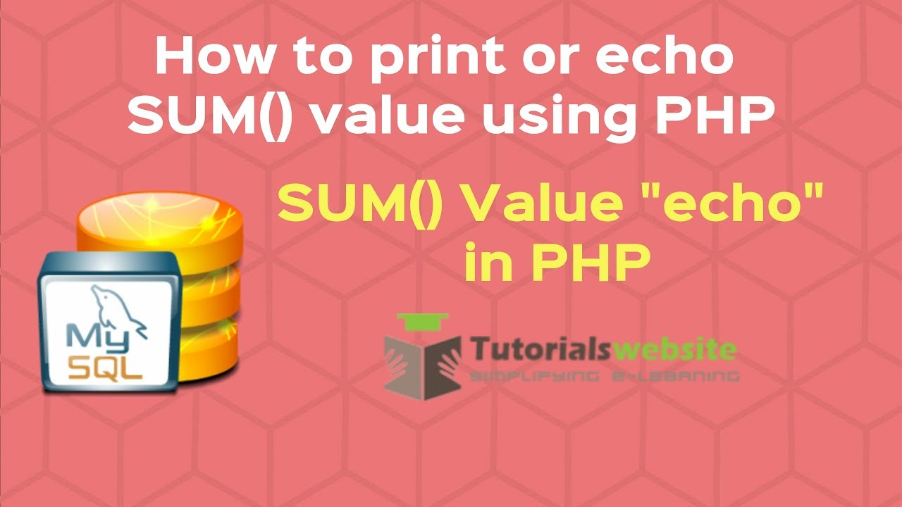 Php echo html | php video academy.