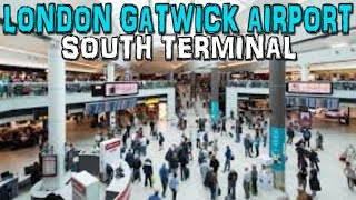 London Gatwick Airport South Terminal Departure Lounge 4K