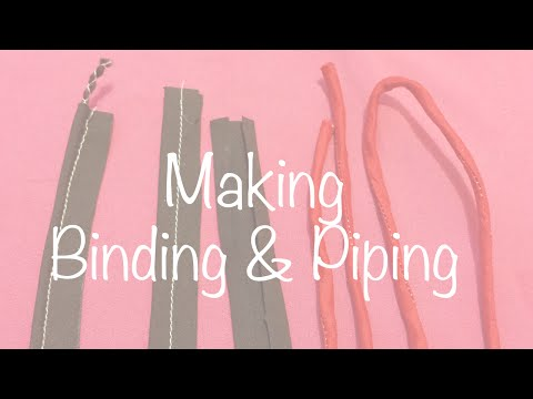 ♥ How to make Bias Binding, Piping and Dori ☁