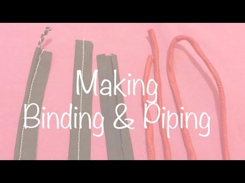 ♥ How to make Bias Binding, Piping and Dori ☁