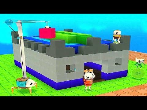 ТОКА БОКА СТРОИТЕЛИ - Строим ЗАМОК. Развивающее видео для детей. Toca Builders for Kids