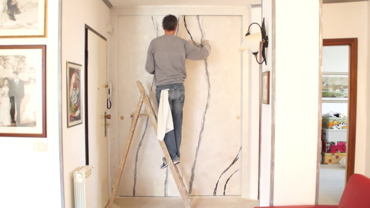 Decorazione armadio a muro - YouTube