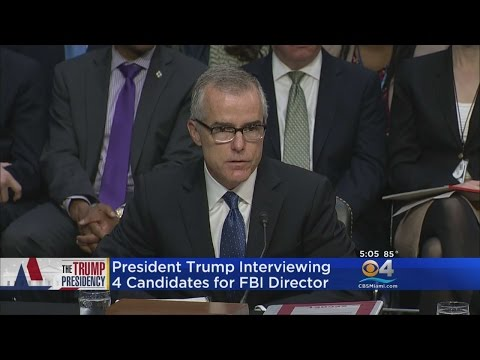 President Trump Interviewing 4 Candidates For FBI Director