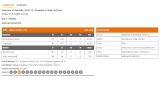 Live: Australia Vs India 3rd Test #Cricket Match Hindi Commentary from Stadium | #SportsFlashes