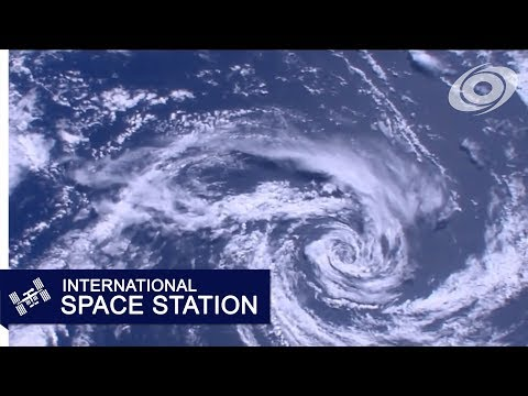 Tasman Sea Cyclone from the ISS (Jan 17, 2018 at 23:17Z)