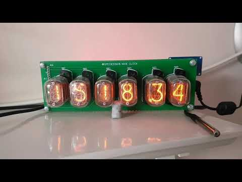 Nixie clock showing indoor and outdoor temperature over wifi