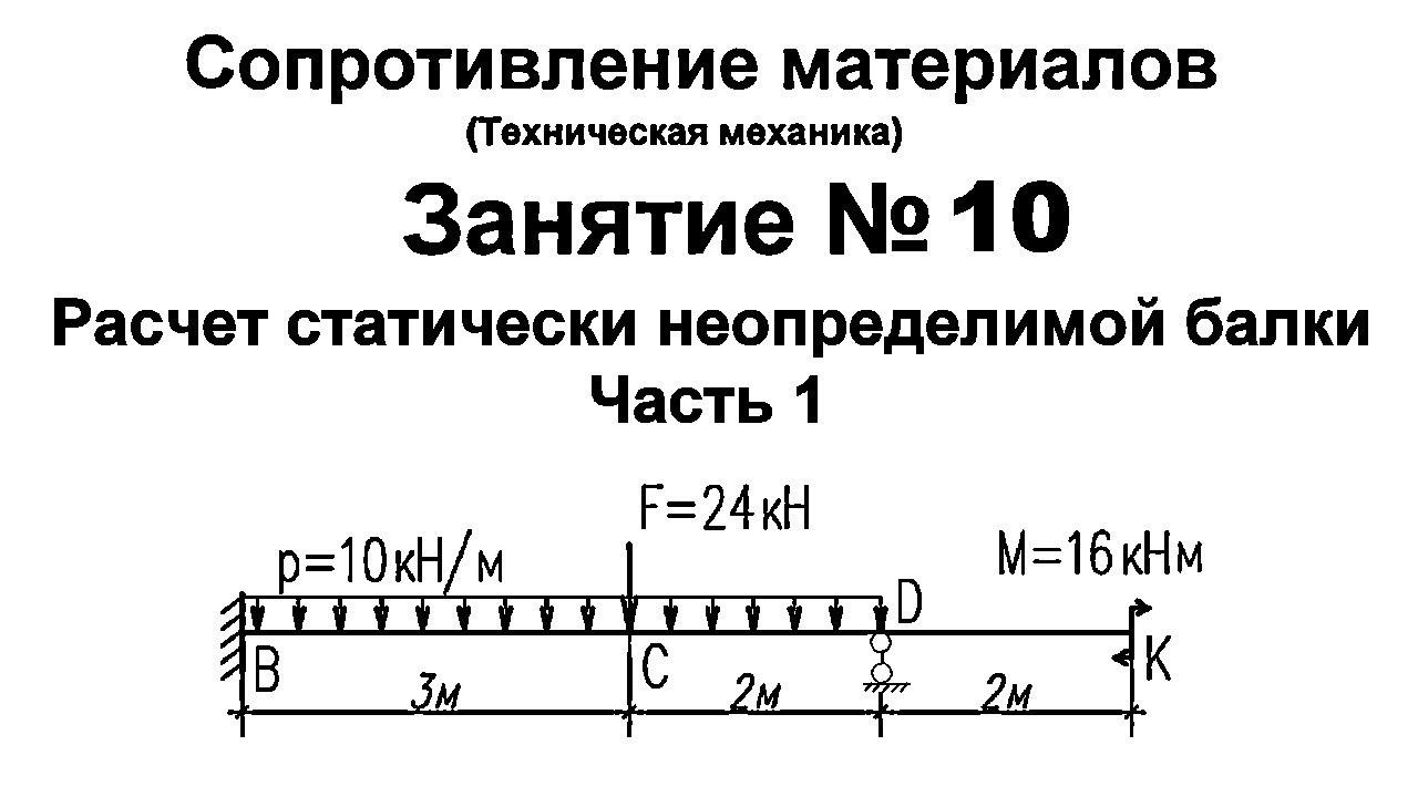 Решение статически неопределимых задач сопромат задача с6 егэ по математике с решением