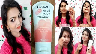 Revlon Touch and Glow Liquid Powder Foundation//Review & How to use with Tips//Affordable Foundation