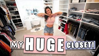 TURNED MY BEDROOM INTO A HUGE CLOSET! *Closet Tour*