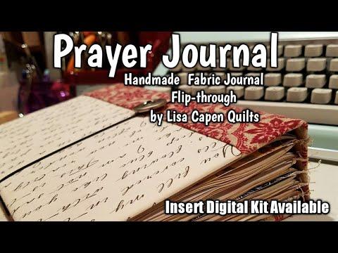 Fabric Covered Prayer Journal Flip Through...