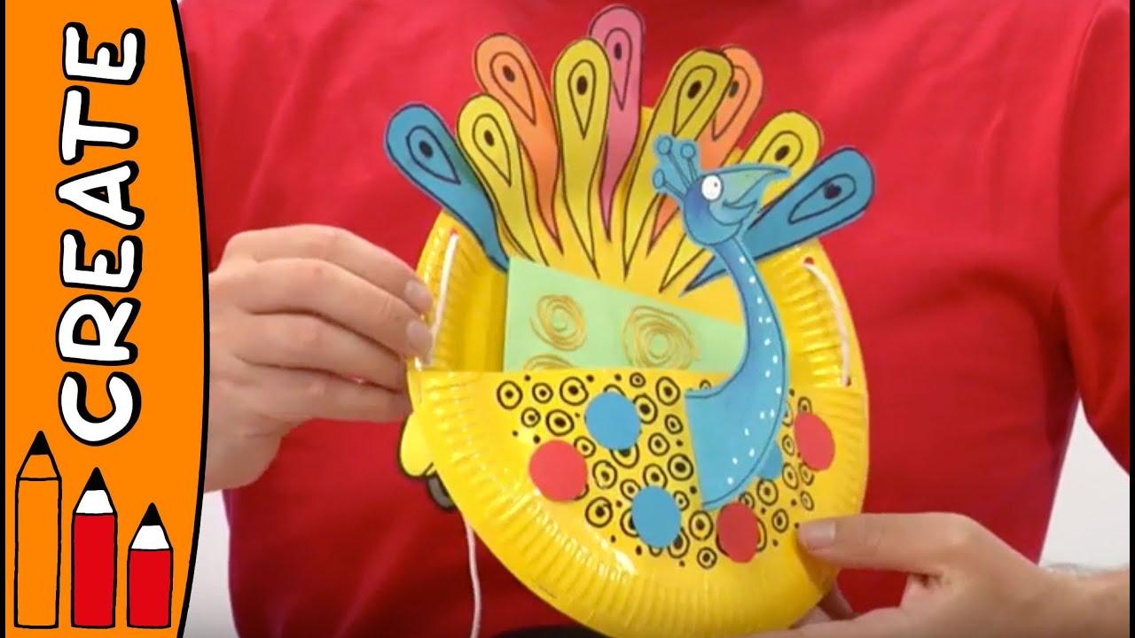 Superb Peacock Craft Ideas For Kids Part - 7: Craft Ideas For Kids - Peacock Hanger | World Of Art | Øistein Kristiansen  - YouTube